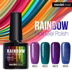 2016 Fashion Neon Nail Gel Polish Soak Off UV Colorful Nail Colors Art For gel nail polish Long-lasting Gel