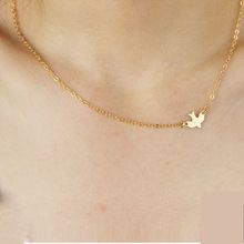 1pcs Simple Gold Plated Birds Necklace Clavicle Chains Charm Womens Fashion Jewelry Maxi Necklace Clothing Jewelry Accessories(China (Mainland))