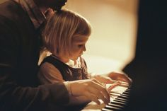 Flashback: Gwen as little girl. Her dad playing the piano with her. ( this is the beginning of the flashback. Gwen watches her younger self maybe 4 and her dad play then it slowly disappears and she sees herself at 8. She is playing the piano by herself and her dad walks up and sits beside her and they play together. Then she sees herself at 13. She is alone sitting at the piano. Starts playing. Her dad is gone.) after flashback she sits down as her 16 self and plays piano.