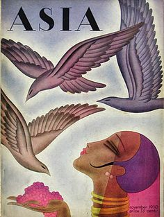 By Frank McIntosh, 11/ 1 9 3 0, Asia  art deco magazine cover illustration vintage image