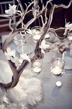 dendrobuim vase wedding idea | Wedding Flowers: 4 Centerpieces For Your Bridal Shower (PHOTOS)