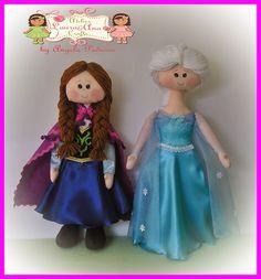 by Angela Pedroso: Bonecas Anna e Elsa Frozen