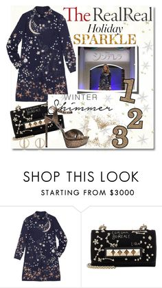 """Holiday Sparkle With The RealReal: Contest Entry"" by nfabjoy ❤ liked on Polyvore featuring Michael Kors, Valentino, Yves Saint Laurent and Noor Fares"