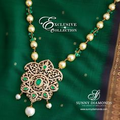 Masterpiece traditional necklace- Diamond+Pearl.