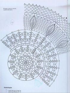 "Photo from album ""ааа Рукоделие"" on Yandex. Crochet Doily Rug, Crochet Doily Diagram, Crochet Borders, Crochet Tablecloth, Crochet Stitches Patterns, Doily Patterns, Crochet Chart, Thread Crochet, Filet Crochet"