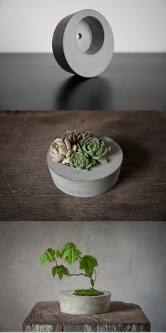 23 Diy Concrete Projects: use concrete to amazing extents - 101 Recycled Crafts Concrete Furniture, Concrete Crafts, Concrete Projects, Concrete Design, Concrete Planters, Diy Planters, Concrete Jewelry, Concrete Garden, Succulent Planters