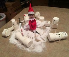 Most current Pictures Learning the Joy of Snowman Mu is listed (or ranked) 15 on the list 40 Funny Pho. Concepts Learning the Joy of Snowman Mu is listed (or ranked) 15 on the list 40 Funny Photos of Elf on the S Elf On The Shelf, A Shelf, Shelves, Shelf Elf, Christmas Quotes, Christmas Elf, Christmas Humor, Christmas Ideas, Christmas Decorations
