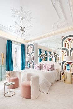 Those eyes reminds me of Incredible bedroom design by - Architecture and Home Decor - Bedroom - Bathroom - Kitchen And Living Room Interior Design Decorating Ideas - Interior Design Inspiration, Home Interior Design, Room Inspiration, Design Ideas, Design Art, Colorful Interior Design, Room Interior, Art Deco Bedroom, Home Decor Bedroom