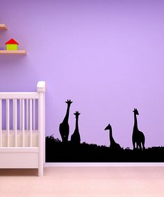 Black Giraffe Wall Decal