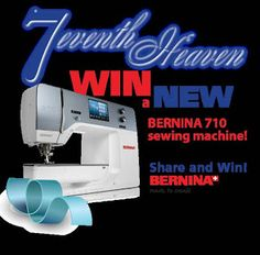 #Sweepstakes ~ Win A Bernina 710 #Sewing Machine ~ CANADA only  http://www.linkiescontestlinkies.com/2012/12/sweepstakes-win-bernina-710-sewing.html