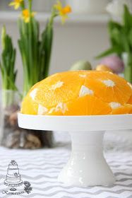 Appelsiinicharlotta appelsiinilotta appelsiinirahka appelsiini rahka jälkiruoka jälkiruuat pääsiäinen 80-luku