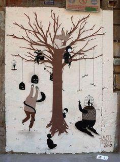 Escif #uniquestreetart #greatstreetartists #freewalls #graffitiart #art #urbanartists #streetart #escif