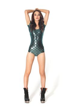 Mermaid Cap Sleeve Bodysuit - LIMITED WANT SOOOO BADLY!!! Need to get right meow, before they're gone! ='[