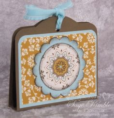 Handmade Thanksgiving favors, just the right size for a Ghirardelli Chocolate!  Simple to make, and fun to receive.  www.stampingmadly.com