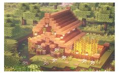 """blockybonsai: """"""""Back to building (∪ ◡ ∪) - tutorial """" """" Minecraft Cottage House, Minecraft Small House, Cute Minecraft Houses, Minecraft Plans, Minecraft Medieval, Amazing Minecraft, Minecraft House Designs, Minecraft Tutorial, Minecraft Blueprints"""