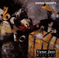 1996 Victor Jazz History Vol.7: Swing Groups [RCA 74321285612] cover painting by Alice Choné #albumcover