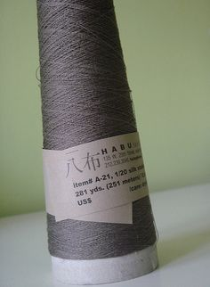 A-20/21 1/20 silk stainless steel by Habu Textiles Lace: 69% Silk, 31% Metallic