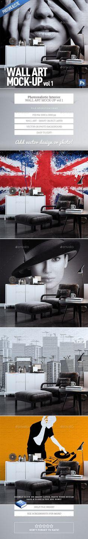 Wall Art Mock-Up vol.1 - #mockup realistic product displays