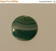 ON SALE Beautiful unique green  stripes agate by JnJGiftsnCrafts