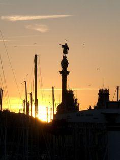 Christopher Colombus  Statue,  Barcelona.