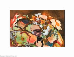 """Original Abstract Watercolor by Mary Louise Green, """"Abstract in Browns"""", Unmatted 15X22"""