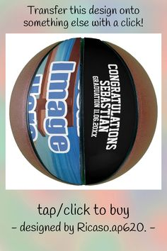 Custom Personalized Text and Photo Gift Idea Basketball - tap to personalize and get yours #Basketball #make #your #own, #design #personalized,