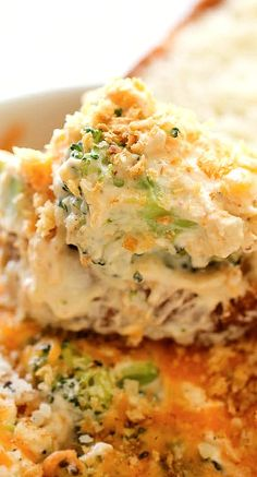 Baked Broccoli Parmesan Dip (add cooked penne pasta to make a great side dish)