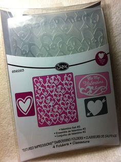 Embossing Piece Set of Brand New by JudeAlyssaMarkus Heart With Arrow, Oval Frame, Of Brand, Be My Valentine, Paper Piecing, Card Stock, My Etsy Shop, Scrapbooking, Paper Crafts