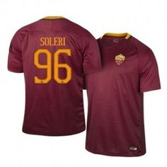 16-17 Roma Red Home #96 Soleri Cheap Replica Jersey [H00179]