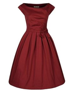 Vintage Party Dress - Rust