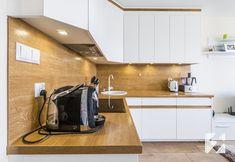 Białe meble na wymiar do kuchni z elementami w kolorystyce drewna od 3TOP Meble Modern Kitchen Cabinets, Kitchen Cabinet Design, Kitchen Interior, Kitchen Ideas, Loft, Room Decor, Bedroom, Kitchens, Rooms