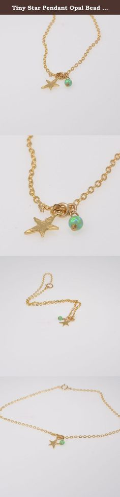 Tiny Star Pendant Opal Bead Gold Filled Anklet. Magnificent gold anklet with tiny star pendant and opal bead - simple but full of classic style! The anklet that you can wear every day for protection and lots of luck . Special beach anklet! This opal anklet is perfect for yourself, giving as a special gift, or bridesmaid necklace All my jewelry are packed in an elegant gift box. If you want to give it as a gift you can specify the address and I'll be happy to send it on your behalf.
