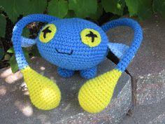 Chinchou free crochet pattern by blogger Lemmy Loop