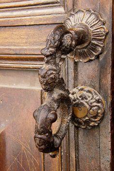 ♅ Detailed Doors to Drool Over ♅ art photographs of door knockers, hardware & portals - antique door handle.
