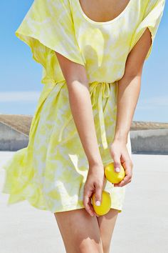 Lemon Yellow Roppongi Dress