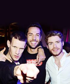 Matt Smith, Zachary Levi, Richard Madden. To much awesomeness and adorkableness right here.