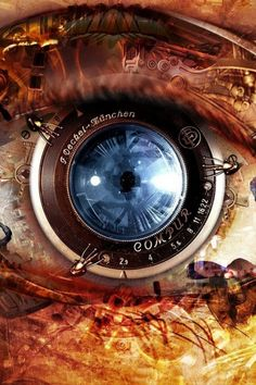 #Phone Eyes Steampunk Mobile Wallpaper #Wallpapers