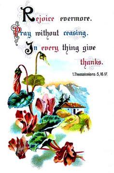1 Thessalonians 5:16, 17