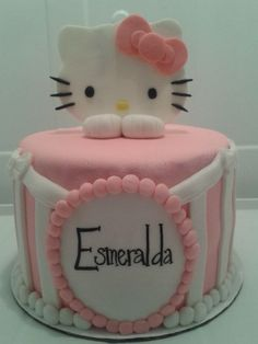 Hello Kitty birthday cake...everything made out of fondant - cakecentral