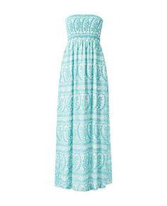 Mint Green Paisley Print Bandeau Maxi Dress | New Look