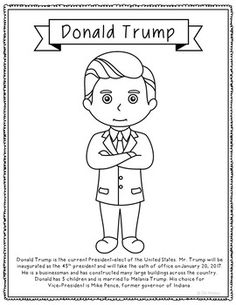 Freebie! Presidential-Elect Donald Trump Coloring Page, In