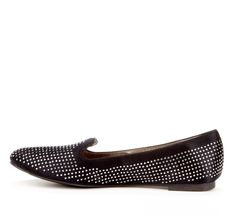 studded smoking loafer