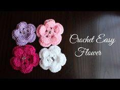Como hacer una flor fácil a gancho o ganchillo (crochet). Hola espero que disfrutes este video y gracias por tu apoyo. Espera mas videos míos.
