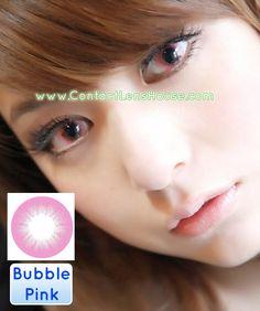 The Bubble Series - Pink color circle lens. | Shop @ ContactLensHouse.com