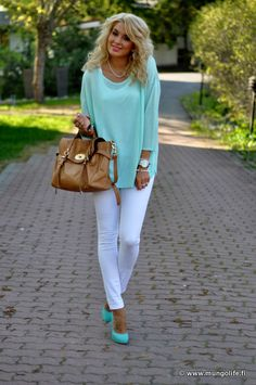 3088ae027cb Love the mint and the white combination. I wish I could find some shoes this