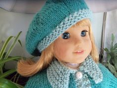 Free knit pattern beret hat for american girl dolls
