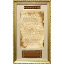 13 Original Rules of Golf Framed Plaque $67.99 @ Overstock.com