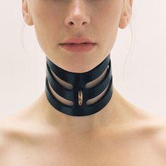 Cut out leather posture collar by Fleet Ilya - babylikestopony