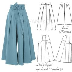 FREE PATTERN ALERT: 15 Pants and Skirts Sewing Tutorials - On the Cutting Floor: Printable pdf sewing patterns and tutorials for women FREE PATTERN ALERT: 15 Pants and Skirts Sewing Tutorials: Get access to hundreds of free sewing patterns and unique mode Sewing Patterns Free, Free Sewing, Clothing Patterns, Sewing Tips, Sewing Hacks, Free Pattern, Pattern Sewing, Pants Pattern Free, Pallazo Pants Pattern