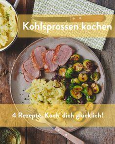 4 Rezepte um Kohlsprossen zu kochen Marley Spoon, Meat, Chicken, Side Dishes, Napa Cabbage, Fresh, Food Food, Rezepte, Cubs